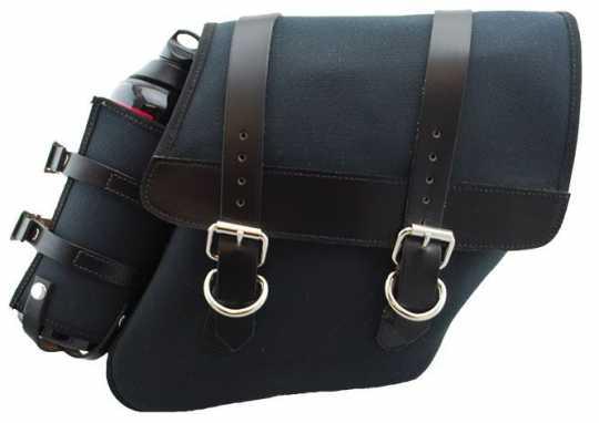 LaRosa LaRosa Canvas Right Side Saddle Bag with Fuel Bottle, black  - 89-5038