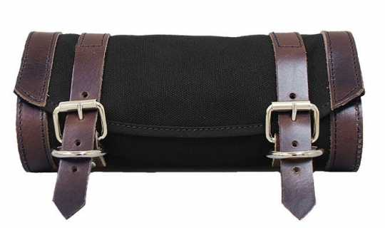 LaRosa LaRosa Front Fork Canvas Tool Bag - Black with Brown Accents  - 89-5053