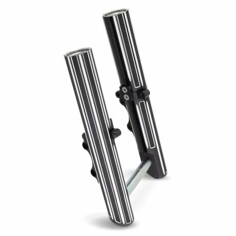 Arlen Ness Arlen Ness Hot Legs, 10-Gauge, Dual Disc, black  - 89-5356