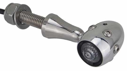 Hells Kitchen Choppers HKC LED Turn Signals Retro, Alu Polish, Alu Polish, V2A Polish  - 89-5682