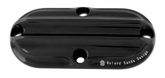 Roland Sands Design RSD Inspection Cover Nostalgia, Black Anodize  - 89-6335