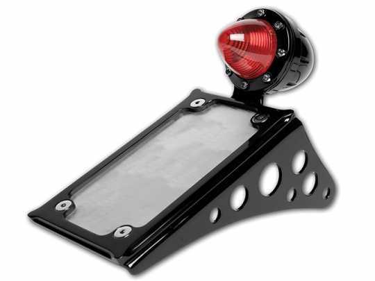 Roland Sands Design RSD Nummernschildhalter mit LED Rücklicht, Vertikal, schwarz pulverbeschichtet  - 89-6417