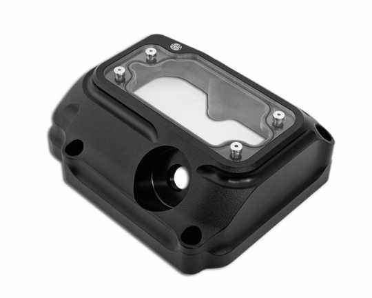 Roland Sands Design RSD Transmission Top Cover Clarity, Black Ops  - 89-6435