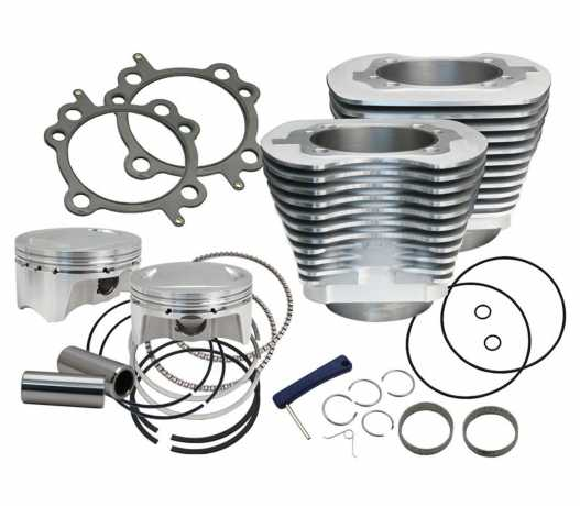 """S&S Cycle S&S 4"""" Bore Bolt-In Sidewinder Big Bore Kit silver  - 89-6528"""