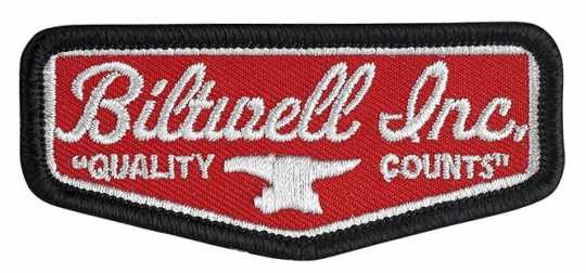 "Biltwell Biltwell Shield Patch 3"" - Red/Grey/Black  - 561951"