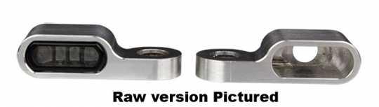 Flywheel Design Turn Signal Housing, Front, M8, 21.5mm, Aluminum, Powder Coated, Black  - 89-4356