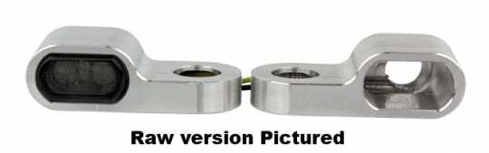 Flywheel Design Flywheel Design Turn Signal Housing front 15,5mm, Aluminum, Anodized, Black  - 89-4428