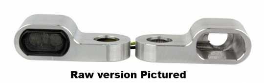 Flywheel Design Flywheel Design Turn Signal Housing, Front, 15,5mm, Aluminum, Powder Coated, Black  - 89-4429
