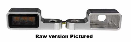 Flywheel Design Flywheel Design Blinkergehäuse vorn Cube 27mm, Alu schwarz eloxiert  - 89-4432