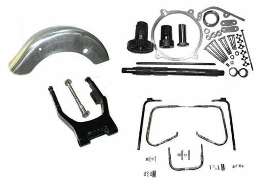 Custom Chrome Wide Tire 200mm Swingarm Kit  - 89-4450