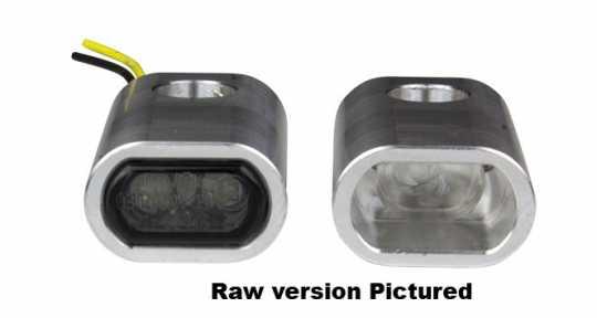 Flywheel Design Turn Signal Housing, Version 2, Front, M8, 15,5mm, Aluminum, Powder Coated, Black  - 89-4502