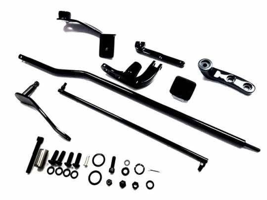 Custom Chrome Forward Control Kit, black  - 89-4860