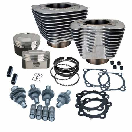 S&S Cycle S&S Hooligan Kit,1200cc to 1250cc,Silver  - 89-6524
