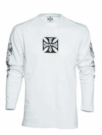 West Coast Choppers West Coast Choppers Cross Longsleeve weiss  - 90-1051V