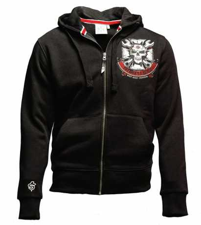 West Coast Choppers West Coast Choppers Mechanic Zip Hoodie black  - 90-1113V