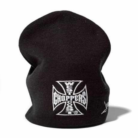West Coast Choppers West Coast Choppers Knit Hat Iron Cross Basic black  - 90-1156
