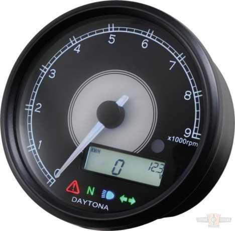 Daytona Japan Daytona Analog Drehzahlmesser Velona 80 mit Digitalanzeige  - 90-1351