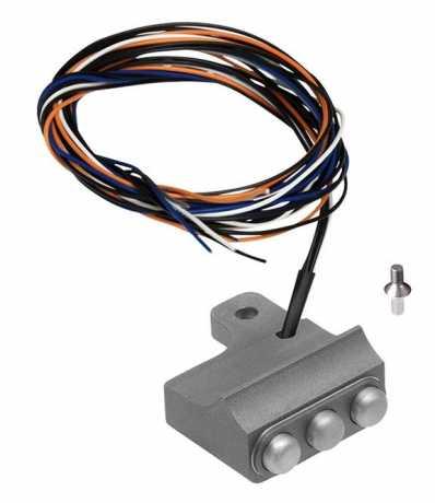 Rebuffini Rebuffini Schaltergehäuse Vendenge, 3-Button, Cable/Hydraulic Clutch, Sandblasted  - 90-1817