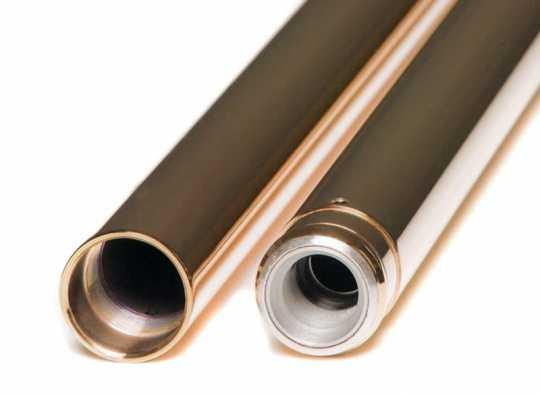 "Custom Cycle Engineering Gabelstandrohre 39mm ,Stock 24,25"" Titanium Nitride Coating /Gold  - 90-2023"