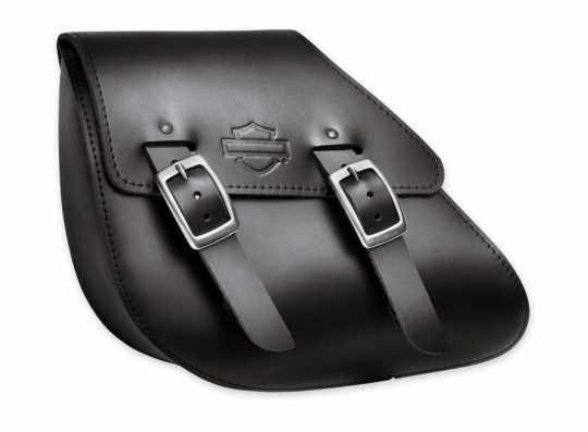 Harley-Davidson Single-Sided Swingarm Leather Bag black  - 90200570
