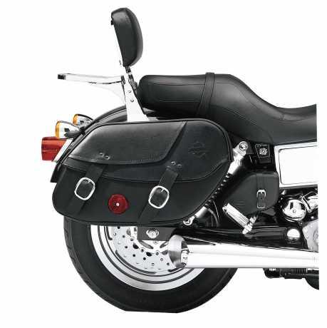 Harley-Davidson Leather Saddlebags Bar & Shield  - 90369-06D