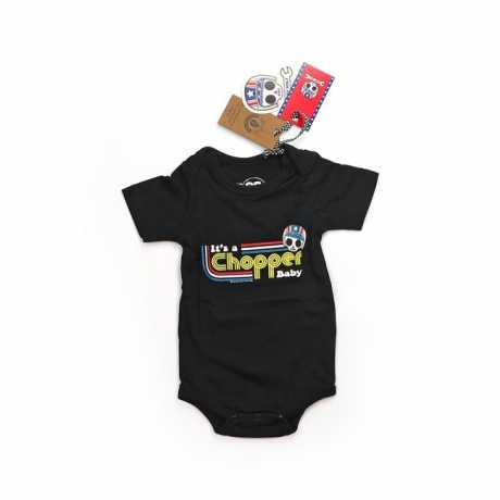 Bobby Bolt Bobby Bolt It's a Chopper Baby Bodysuit schwarz  - 906128V
