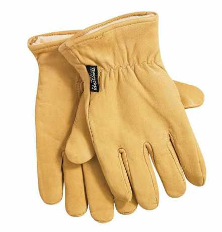 Dickies Dickies Lined Leather Gloves Tan  - 91-1388V