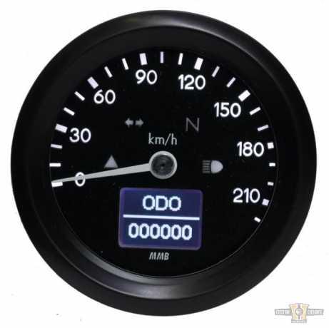 MMB MMB ELT60 Basic, Black/Black, Black Face Dial, 220 km/h, Adjustable Illumination  - 91-1616