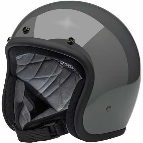 Biltwell Biltwell Bonanza Helmet Gloss Storm Grey  - 569532V