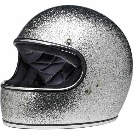 Biltwell Biltwell Gringo Helm Brite Silver Metal Flake DOT  - 60-7335V