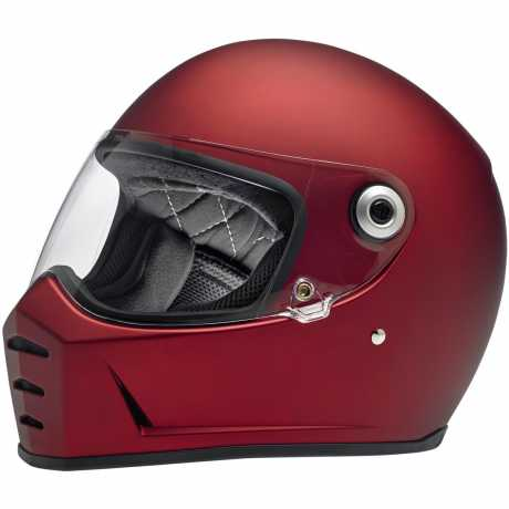 Biltwell Lane Splitter Full Face Helmet, DOT/ECE, Flat Red