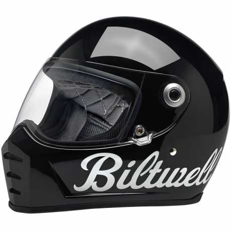 Biltwell Biltwell Lane Splitter Full Face Helmet, DOT/ECE, Gloss Black Factory  - 569688V