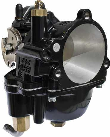 S&S Cycle S&S Carburator Super E Standard Bore, Black  - 91-2408