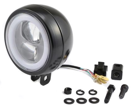 Daytona Japan Daytona LED Headlight 120 mm, Black  - 91-2423