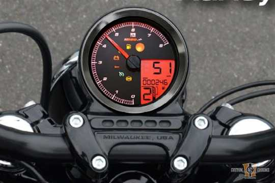 Koso Koso HD-01 Speedo & Tacho, Black Ring  - 91-2534