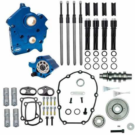 S&S Cycle S&S Gear Drive 475G Cam Chest Kit mit schwarzen Pushrod Tubes  - 91-3653