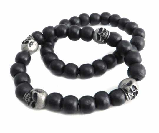 Amigaz Amigaz bracelet 2 Skull Bead  - 91-3785