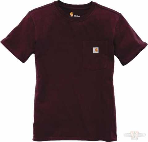 Carhartt Carhartt women T-Shirt Workwear Pocket Deep Wine  - 91-4956V