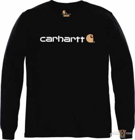 Carhartt Carhartt Longsleeve Workwear Signature Logo schwarz  - 91-5156V