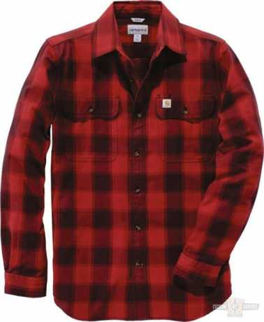 Carhartt Hubbard Flannel Shirt Dark Crimson