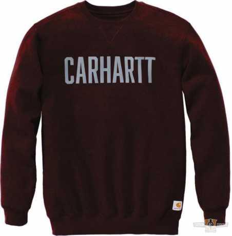 Carhartt Carhartt Sweatshirt Logo Crewneck dunkelrot  - 91-5242V