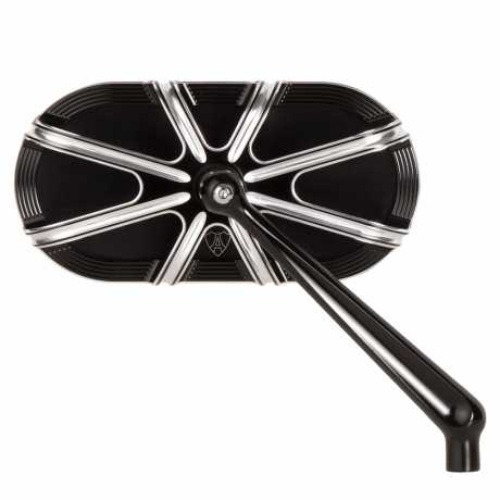 Arlen Ness Arlen Ness 10-Gauge Mirror Right Black  - 91-5759