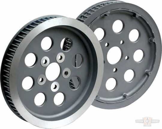 "Custom Chrome Rear Belt Pulley 65-Tooth, 1.5"" Wide, Black  - 91-5856"