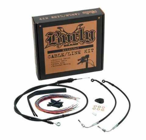 "Burly Brand Burly Control Kit 8"" Black  - 91-5954"