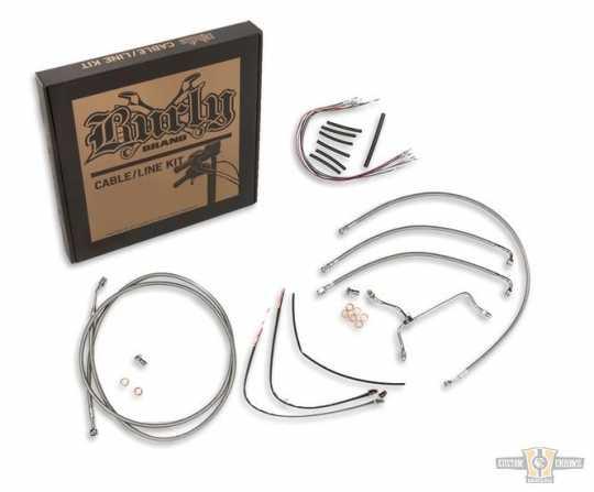 "Burly Brand Burly Control Kit 15"" Bagger Bar, Stainless Steel  - 91-5992"