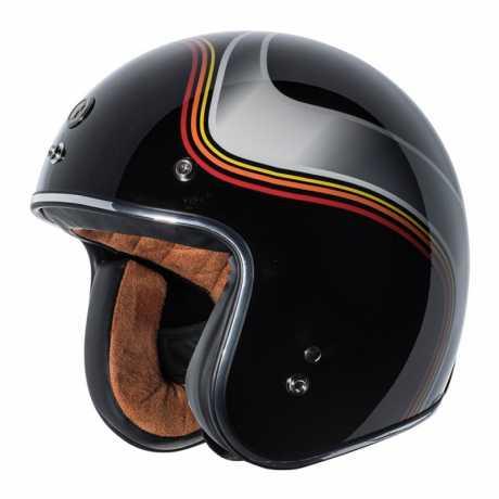Torc Helmets Torc T-50 3/4 Open Face Helmet Luminous ECE Gloss Black  - 91-7906V