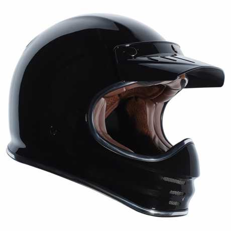 Torc Helmets Torc T-3 Retro MX Cross Helm ECE schwarz M - 91-6172