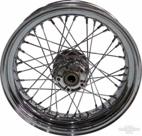 Custom Chrome Custom Chrome 4.5x17 Rear Wheel, 40-Spoke, Chrome  - 91-6366