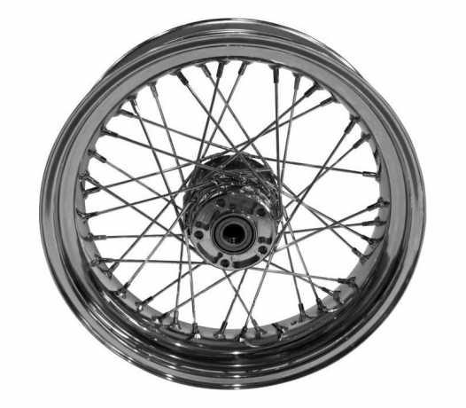 "Custom Chrome 16 x 3.0"" Front Wheel, 40-Spoke, Chrome  - 91-6372"