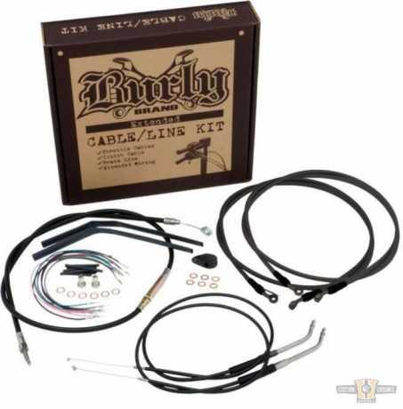 "Burly Brand Burly Cable Kit 14"" Ape Black Vinyl  - 91-6733"